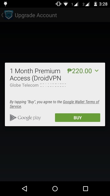 How to upgrade my DroidVPN free account? - DroidVPN